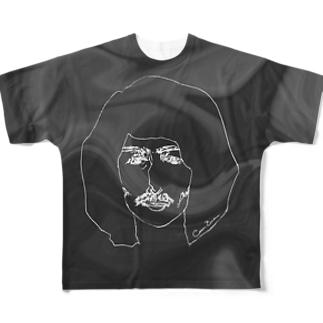サイケデリックアイスクリーム フルグラフィックTシャツ