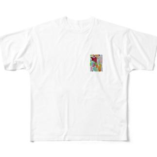 絵の具 フルグラフィックTシャツ