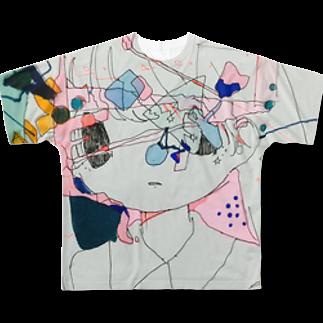 すいぞくかんの□△?〇フルグラフィックTシャツ