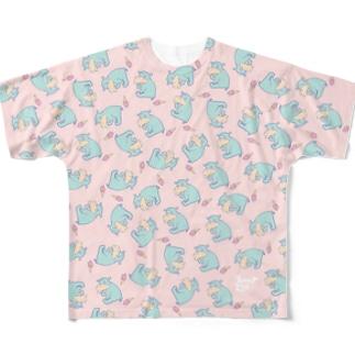 カバ 〜FUNKY ZOO〜 フルグラフィックTシャツ