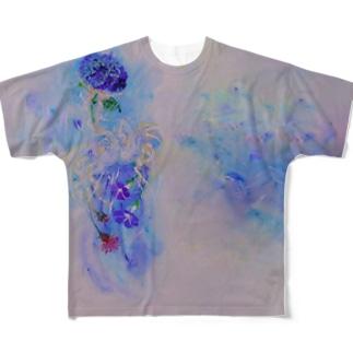 水草海月の夏 Full graphic T-shirts