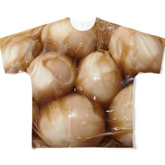 袋に詰められた煮卵 Full graphic T-shirts