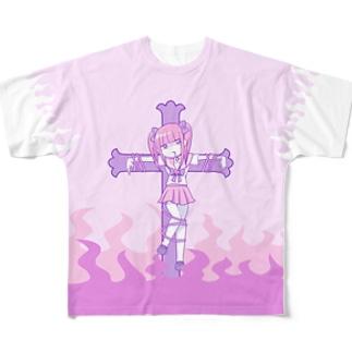 メンヘラ狩り フルグラフィックTシャツ