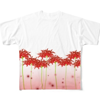 彼岸花 Full graphic T-shirts