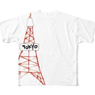 東京タワー Full graphic T-shirts