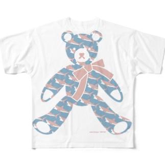 テディベア好きのためのサメ Full graphic T-shirts