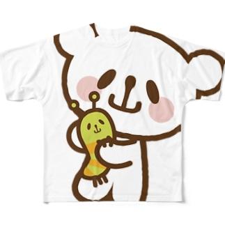 なかよしおやまくまとおやまむし フルグラフィックTシャツ
