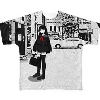 少女 Full graphic T-shirts