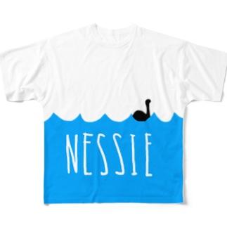 ネッシーTシャツ Full graphic T-shirts