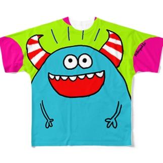 青モンスター Full graphic T-shirts