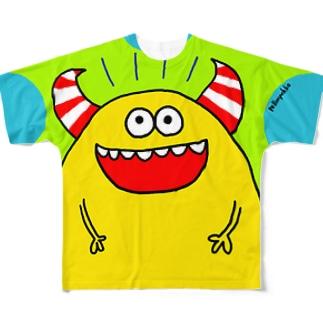 きいろモンスター フルグラフィックTシャツ