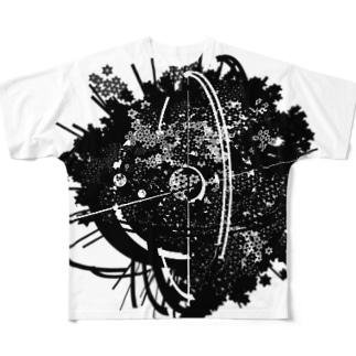麻柄2 フルグラフィックTシャツ