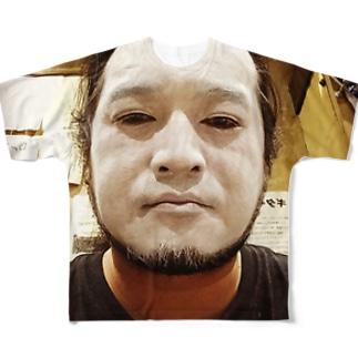 白塗りおじさん Full graphic T-shirts