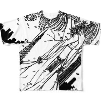 桜田さんと東京タワー フルグラフィックTシャツ