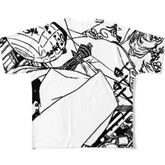 梅田さんと通天閣 フルグラフィックTシャツ