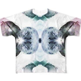 白い花 Full graphic T-shirts