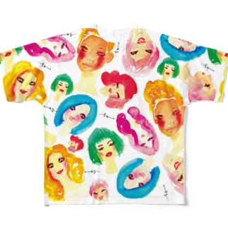 women フルグラフィックTシャツ