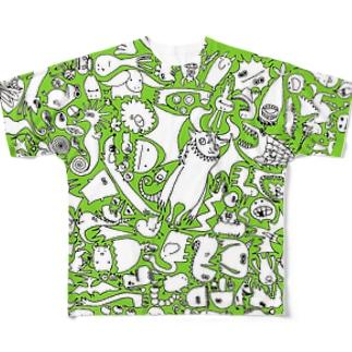 ぎっしり Full graphic T-shirts