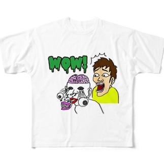 Mr.ブレインマン Full graphic T-shirts