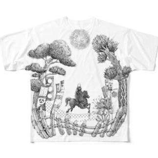 月夜と大杉 Full graphic T-shirts