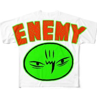 カメントツエネミーGreen フルグラフィックTシャツ