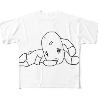 グラウンドりらぴょん Full graphic T-shirts