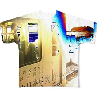 江ノ島江ノ電 Full graphic T-shirts