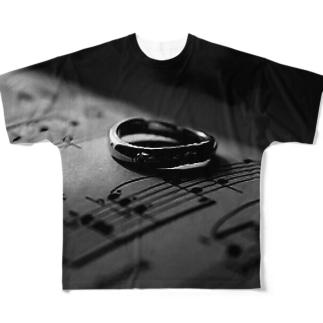 楽譜に指輪 Full graphic T-shirts