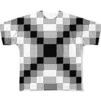 止まって フルグラフィックTシャツ