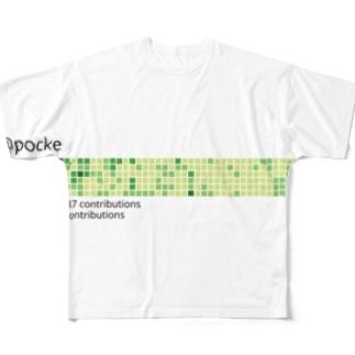 丹精込めて育てた芝です フルグラフィックTシャツ