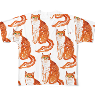 megumiillustrationのYESフルグラフィックTシャツ