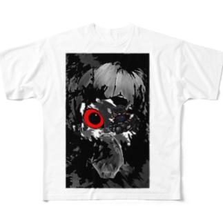 つぎはぎの顔 Full graphic T-shirts
