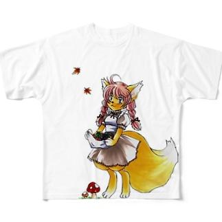 ケモノっ娘 Full graphic T-shirts