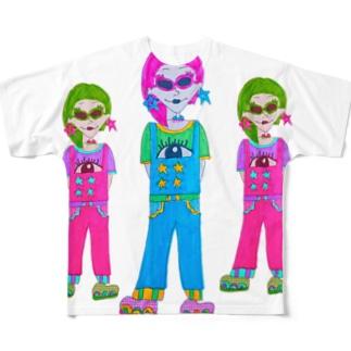 みつご Full graphic T-shirts