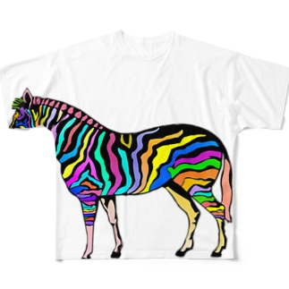 *colorful zebra* Full graphic T-shirts