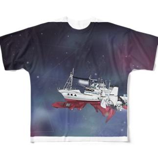 未知数の魚生丸 Full graphic T-shirts