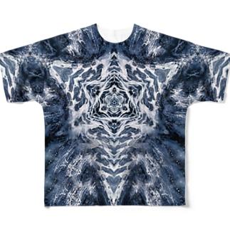波模様/カラー03 フルグラフィックTシャツ