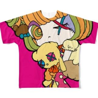 熊くま子 Full graphic T-shirts