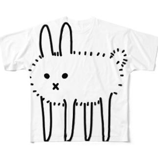 ほっきょくうさぎ Full graphic T-shirts