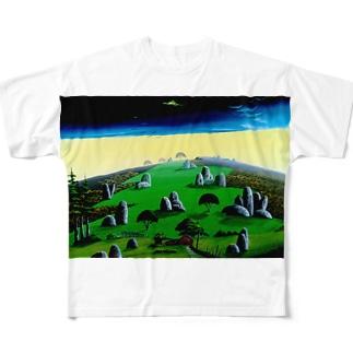 奇岩の丘 Full graphic T-shirts