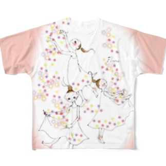 春の踊り Full graphic T-shirts