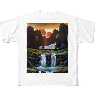 桂林の夕暮れ Full graphic T-shirts