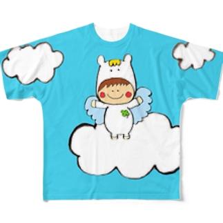 ペガくん雲の上 Full graphic T-shirts