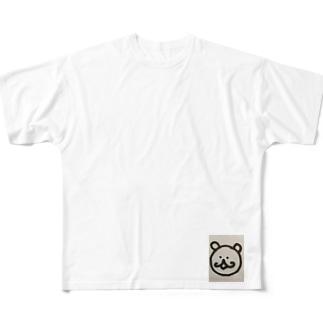 ぐるぐるくまさん Full graphic T-shirts