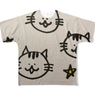 星くずにゃんこ Full graphic T-shirts