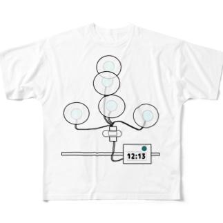 24時間ホルター心電図検査 Full graphic T-shirts