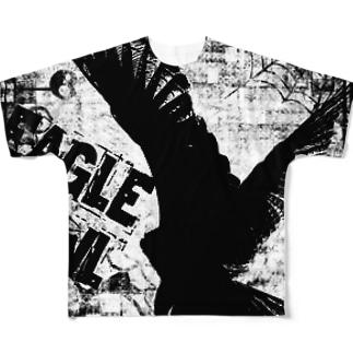 Gothic Eagle Owl フルグラフィックTシャツ
