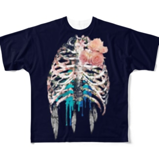 肋骨Tシャツ改善版 Full graphic T-shirts