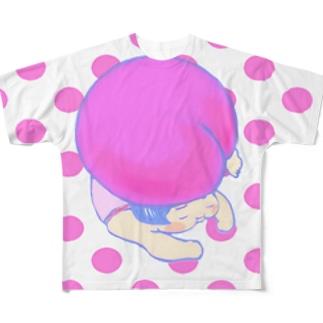 ももちゃん大ピンチ Full graphic T-shirts