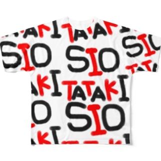 SIOTATAKI赤黒 Full graphic T-shirts